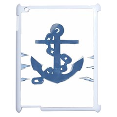 Blue Anchor,  Aquarel Painting Art Apple Ipad 2 Case (white) by picsaspassion