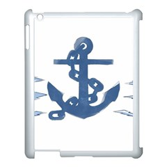 Blue Anchor,  Aquarel Painting Art Apple Ipad 3/4 Case (white)