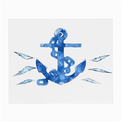 Anchor Aquarel Painting Art, Soft Blue Small Glasses Cloth (2-side) by picsaspassion