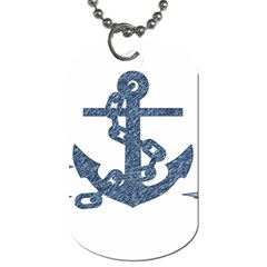 Anchor Pencil Drawing Art Dog Tag (two Sides) by picsaspassion