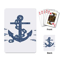 Anchor Pencil Drawing Art Playing Card by picsaspassion