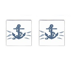 Anchor Pencil Drawing Art Cufflinks (square) by picsaspassion