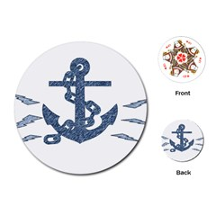 Anchor Pencil Drawing Art Playing Cards (round)  by picsaspassion
