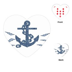 Anchor Pencil Drawing Art Playing Cards (heart)  by picsaspassion