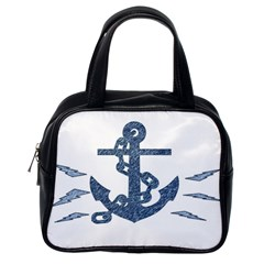Anchor Pencil Drawing Art Classic Handbags (one Side) by picsaspassion