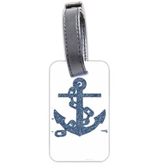 Anchor Pencil Drawing Art Luggage Tags (one Side)  by picsaspassion