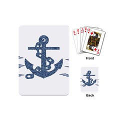 Anchor Pencil Drawing Art Playing Cards (mini)  by picsaspassion