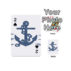 Anchor Pencil Drawing Art Playing Cards 54 (mini)  by picsaspassion