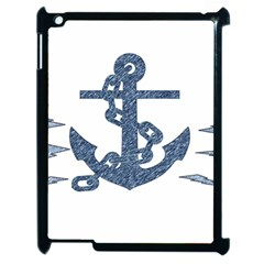 Anchor Pencil Drawing Art Apple Ipad 2 Case (black) by picsaspassion