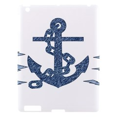 Anchor Pencil Drawing Art Apple Ipad 3/4 Hardshell Case by picsaspassion