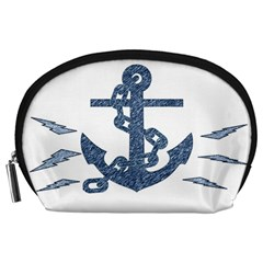 Anchor Pencil Drawing Art Accessory Pouches (large)  by picsaspassion
