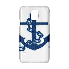 Blue Anchor Oil Painting Art Samsung Galaxy S5 Hardshell Case  by picsaspassion