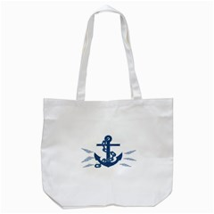 Blue Anchor Oil Painting Art Tote Bag (white)