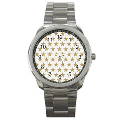 Golden Stars Pattern Sport Metal Watch