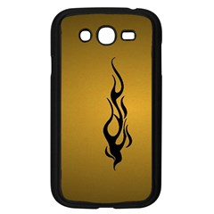 Flame Black, Golden Background Samsung Galaxy Grand Duos I9082 Case (black)