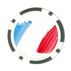 Tricolor Banner France Poker Chip Card Guards (10 Pack)