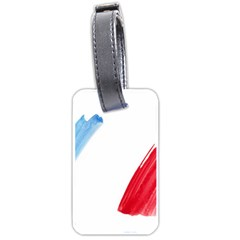 Tricolor Banner France Luggage Tags (one Side)  by picsaspassion