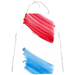 Tricolor Banner Watercolor Painting, Red Blue White Full Print Aprons by picsaspassion