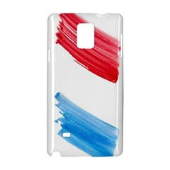 Tricolor Banner Watercolor Painting, Red Blue White Samsung Galaxy Note 4 Hardshell Case
