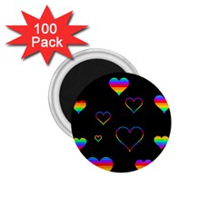 Rainbow Harts 1 75  Magnets (100 Pack)  by Valentinaart