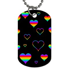 Rainbow Harts Dog Tag (one Side) by Valentinaart