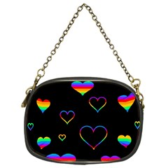 Rainbow Harts Chain Purses (one Side)  by Valentinaart