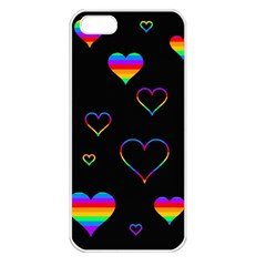 Rainbow Harts Apple Iphone 5 Seamless Case (white)