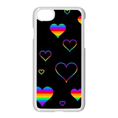 Rainbow Harts Apple Iphone 7 Seamless Case (white) by Valentinaart