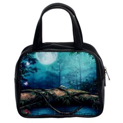 Mysterious Fantasy Nature Classic Handbags (2 Sides) by Brittlevirginclothing