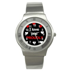 I Love You Proudly Stainless Steel Watch