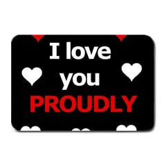 I Love You Proudly Plate Mats by Valentinaart