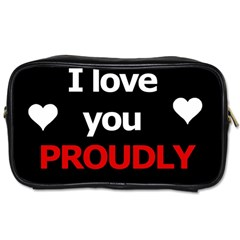 I Love You Proudly Toiletries Bags 2 Side by Valentinaart