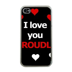 I Love You Proudly Apple Iphone 4 Case (clear) by Valentinaart