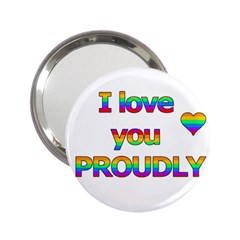 I Love You Proudly 2 2 25  Handbag Mirrors by Valentinaart