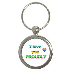 I Love You Proudly 2 Key Chains (round)  by Valentinaart