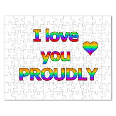 I Love You Proudly 2 Rectangular Jigsaw Puzzl by Valentinaart