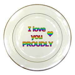 I Love You Proudly 2 Porcelain Plates by Valentinaart