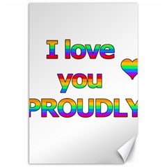 I Love You Proudly 2 Canvas 20  X 30   by Valentinaart