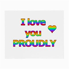 I Love You Proudly 2 Small Glasses Cloth (2 Side) by Valentinaart