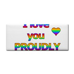 I Love You Proudly 2 Cosmetic Storage Cases by Valentinaart