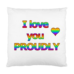 I Love You Proudly 2 Standard Cushion Case (one Side) by Valentinaart