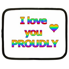 I Love You Proudly 2 Netbook Case (xxl)  by Valentinaart