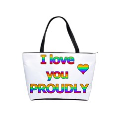 I Love You Proudly 2 Shoulder Handbags by Valentinaart