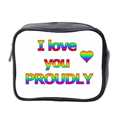 I Love You Proudly 2 Mini Toiletries Bag 2 Side by Valentinaart