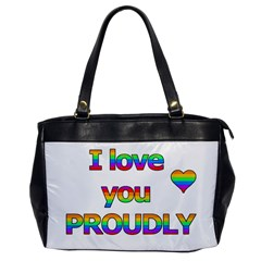 I Love You Proudly 2 Office Handbags by Valentinaart