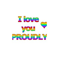 I Love You Proudly 2 Shower Curtain 48  X 72  (small)  by Valentinaart