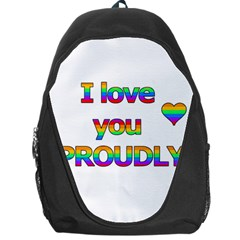 I Love You Proudly 2 Backpack Bag