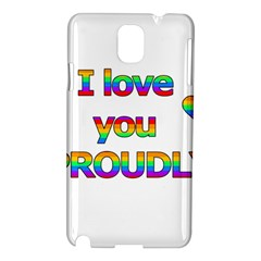I Love You Proudly 2 Samsung Galaxy Note 3 N9005 Hardshell Case by Valentinaart