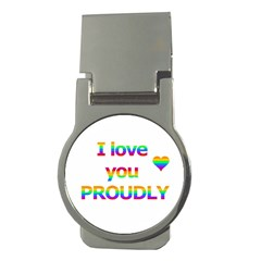 Proudly Love Money Clips (round)  by Valentinaart