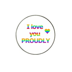 Proudly Love Hat Clip Ball Marker (4 Pack) by Valentinaart